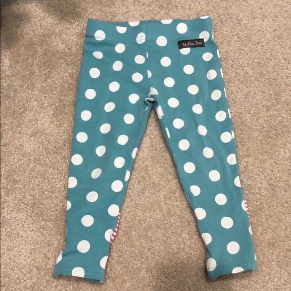 MATILDA JANE GIRLS sz 8 10 12 Blue Polka Dots By Design Leggings Buttons